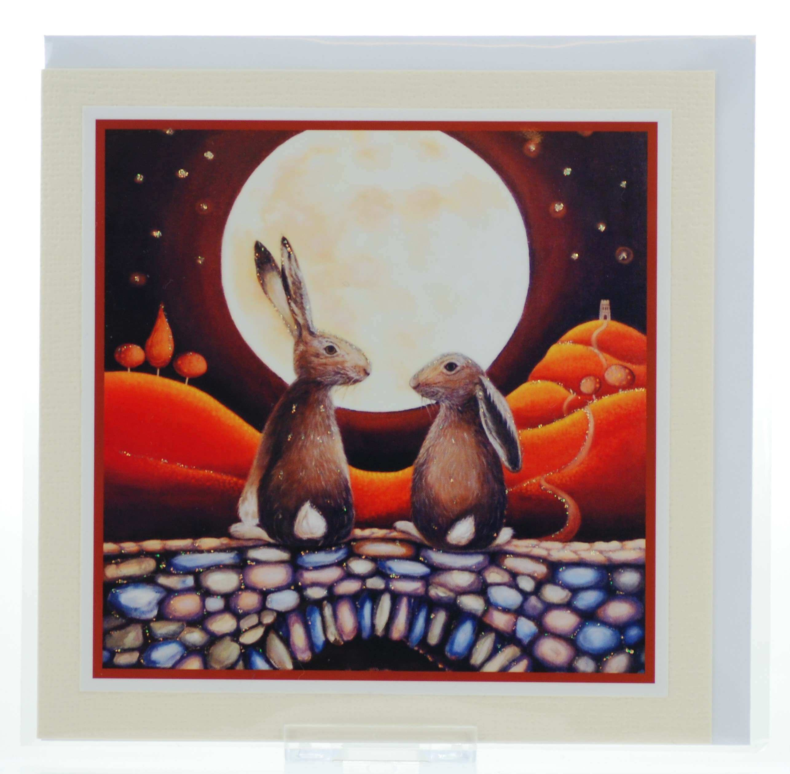 Hares in Love Card