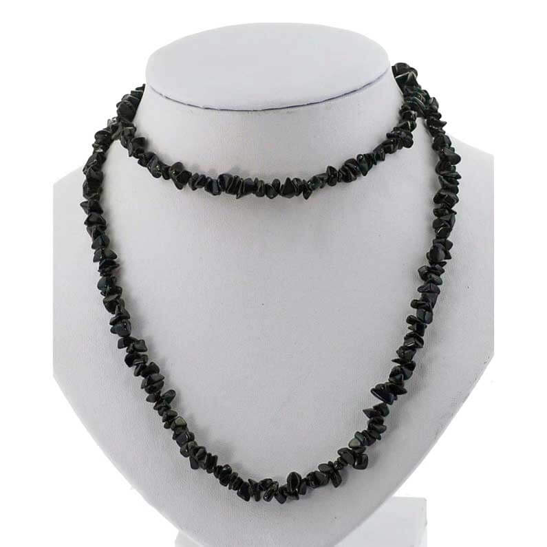 Black Agate Chip Necklace