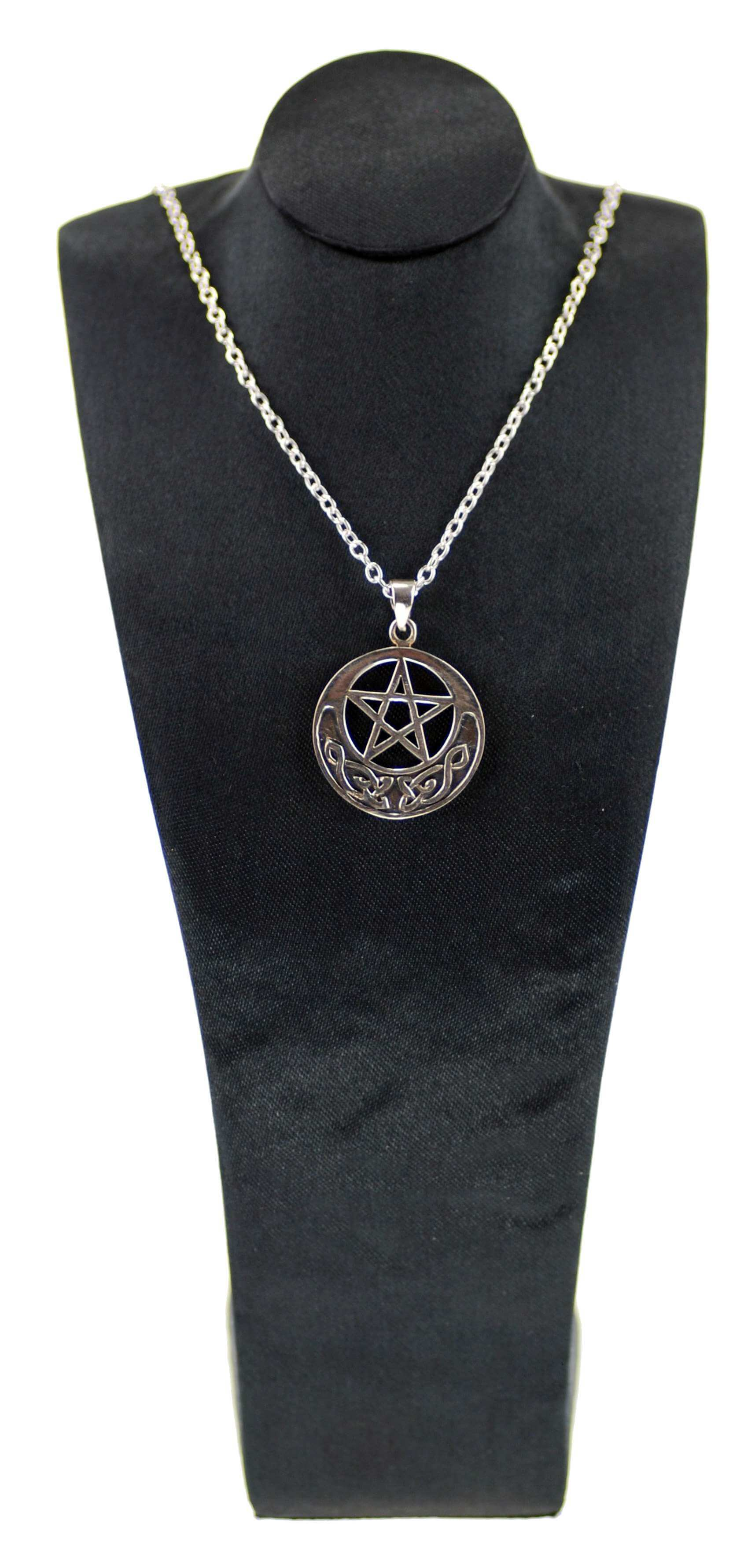 Sterling Silver Celtic Pentagram Pendant