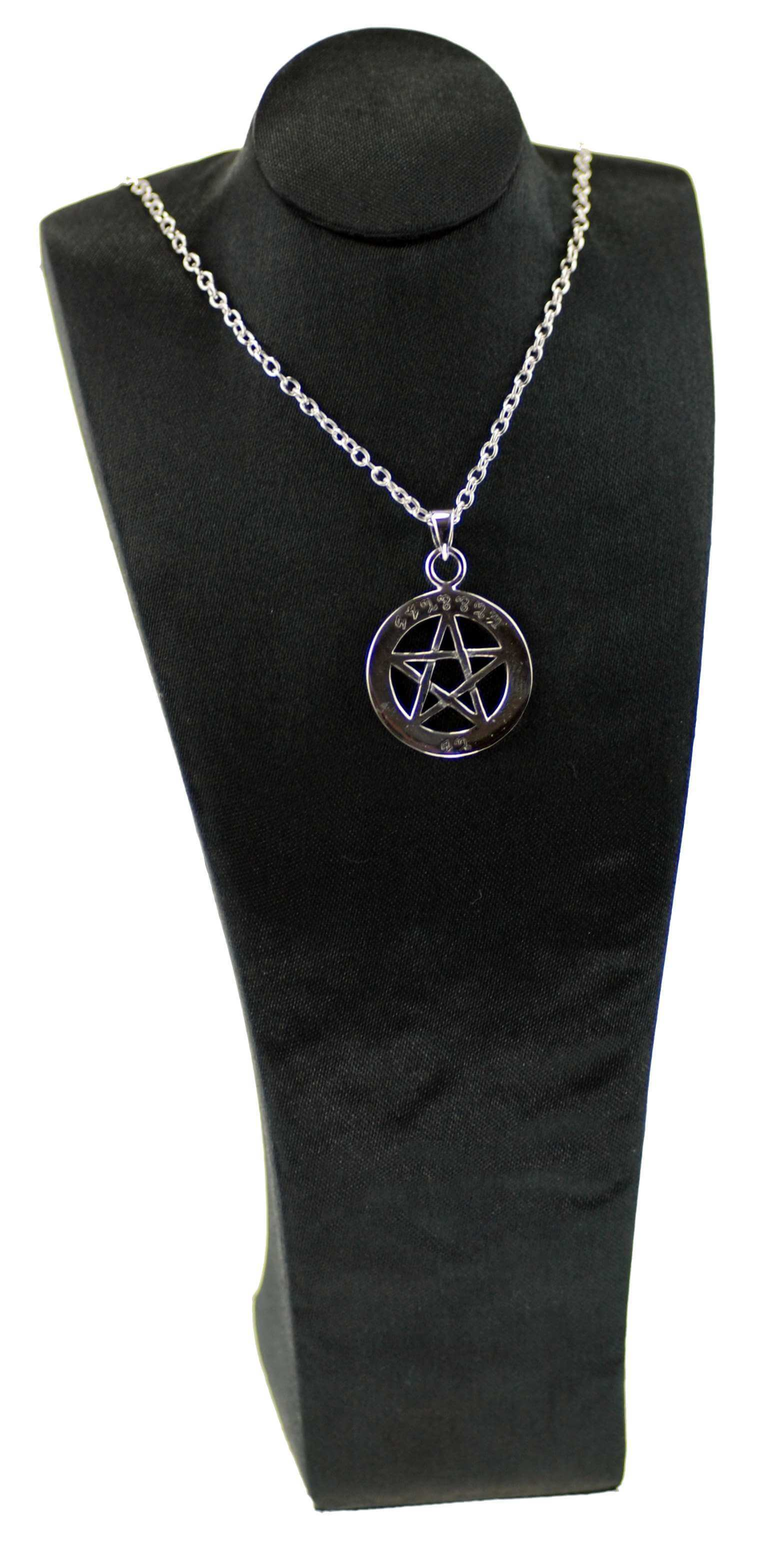 Sterling Silver Blessed Be Pentagram Pendant