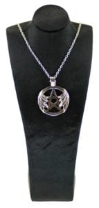 Sterling Silver Winged Pentagram Pendant