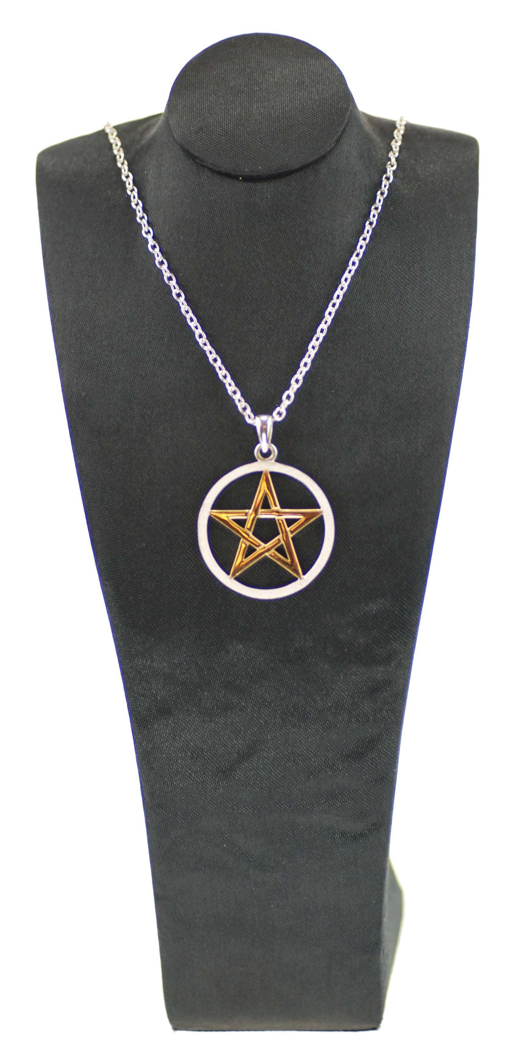 Sterling Silver & Gold Plated Pentagram Pendant