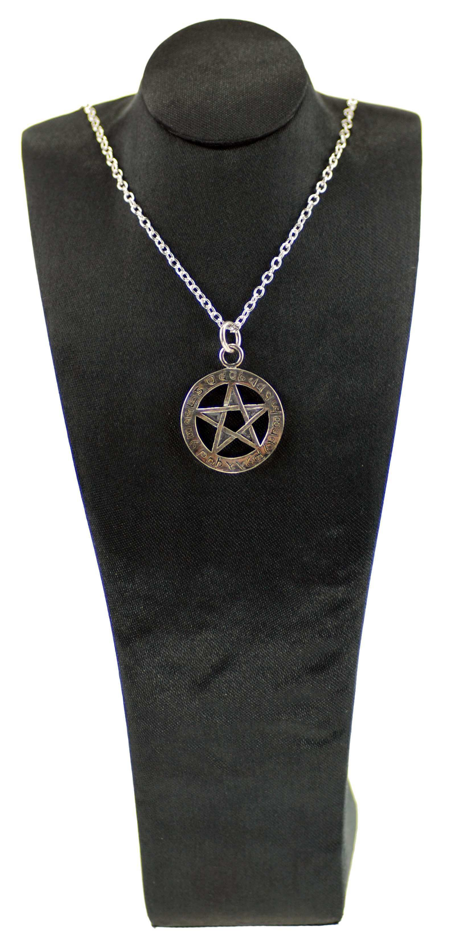 Sterling Silver Elfin Protection Pentagram Pendant