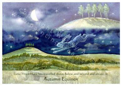 Autumn Equinox Hare Card