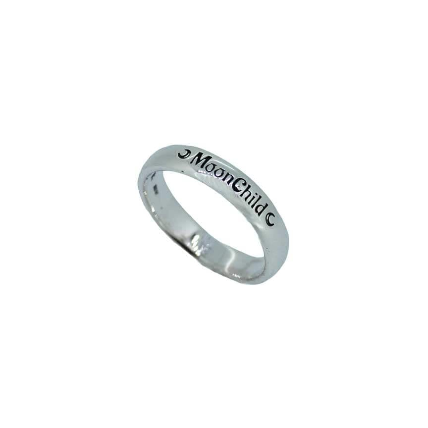 Moonchild Engraved Band