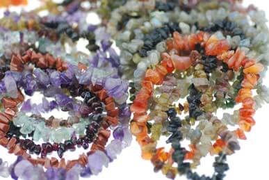 Crystal Chip and Beaded Necklaces