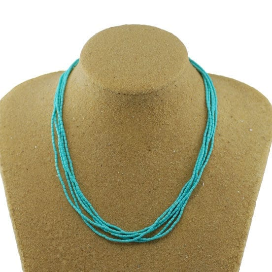 5 Strand Natural Turquoise Necklace