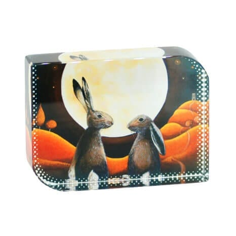 Hares In Love Paperweight
