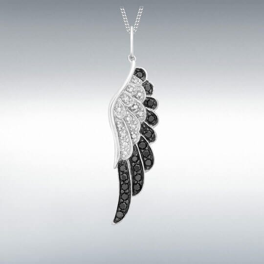 1933 White Gold and Diamond Angel Wing Necklace