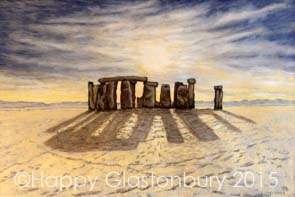 Sunrise Over Stonehenge Magnet
