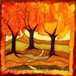 Autumn Gold Mounted Print