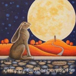 Moon Gazing Hare Magnet