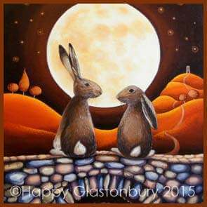 Hares in Love Magnet