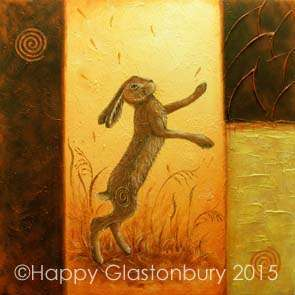 Dance of the Hares (F) Mounted Print