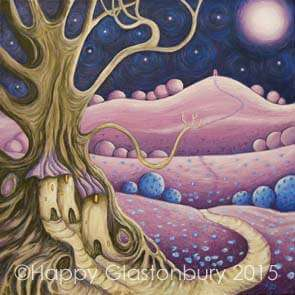 Lilac Moon Mounted Print