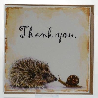 Thank You (Hedgehog) Card