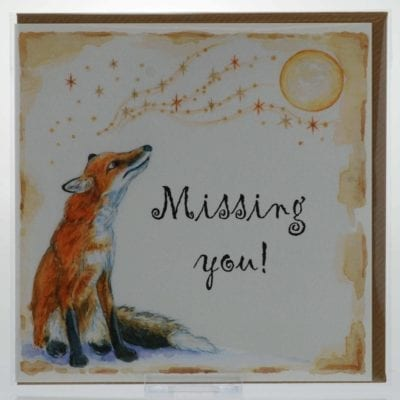 Missing You (Fox) Card