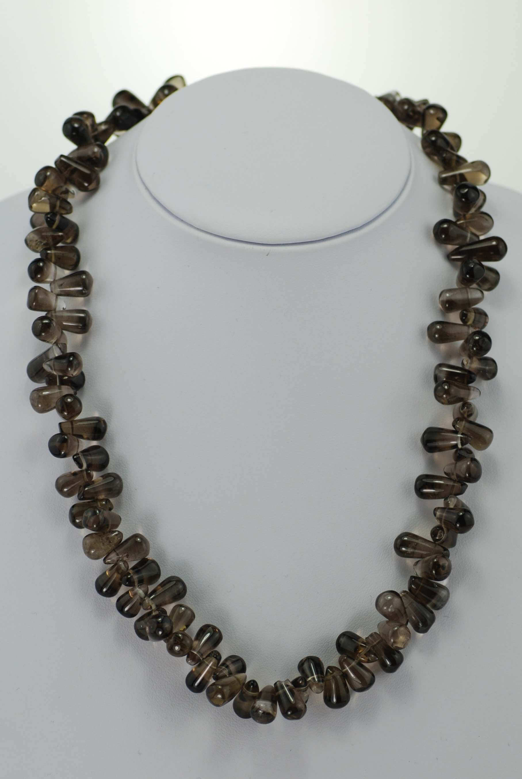 Smokey Quartz Beaded Necklace