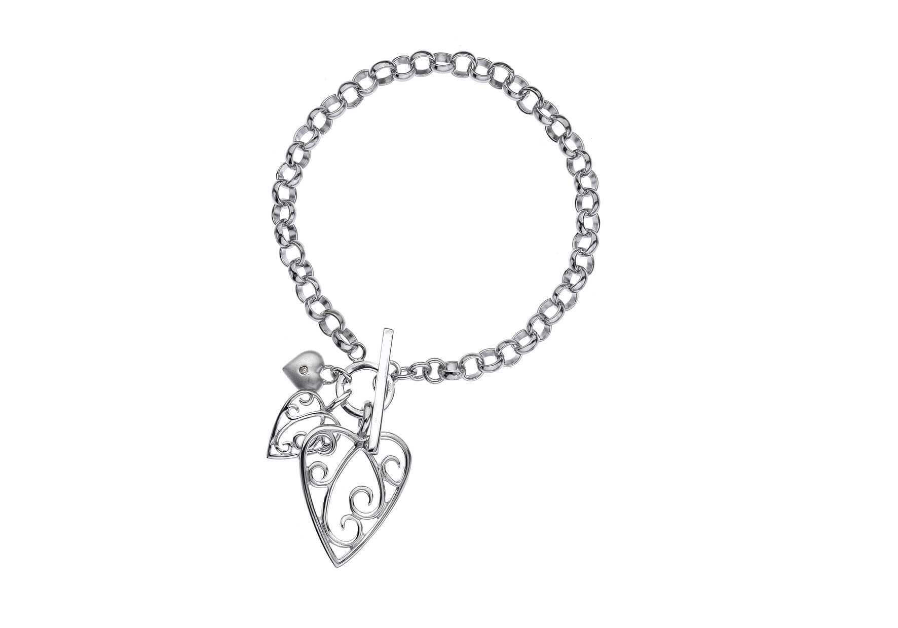Lily & Lotty Sterling Silver & Diamond Bracelet
