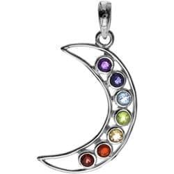 Crescent Moon Chakra Pendant 2321a