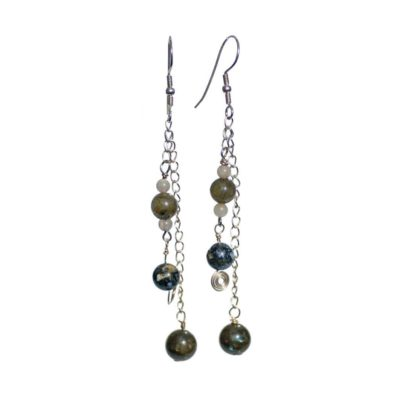 Silver Oceanic Jasper/Labradorite Earrings