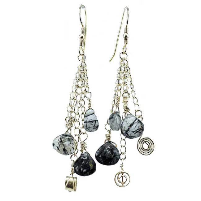 Sterling Silver Tourmalated Quartz Earrings