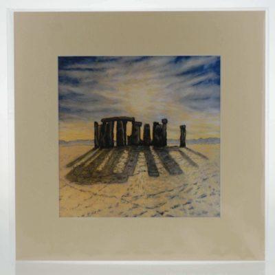 Sunrise over Stonehenge Mounted Print