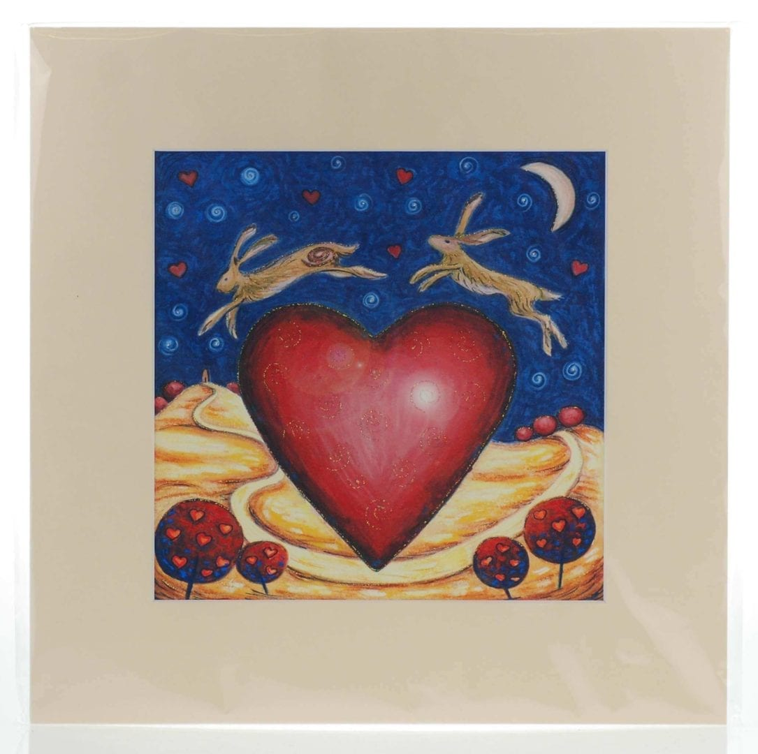 Love is in the Hare Mounted Print