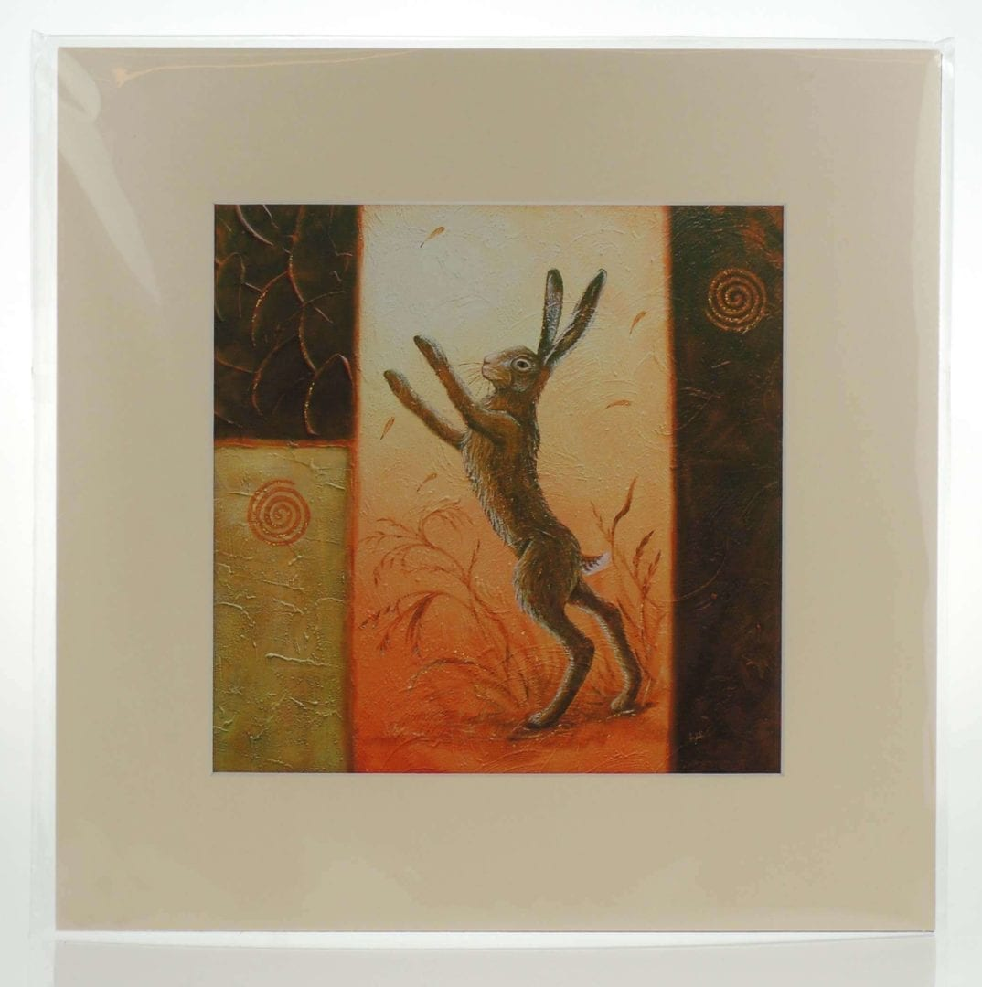 Dance of the Hares (M) Mounted Print