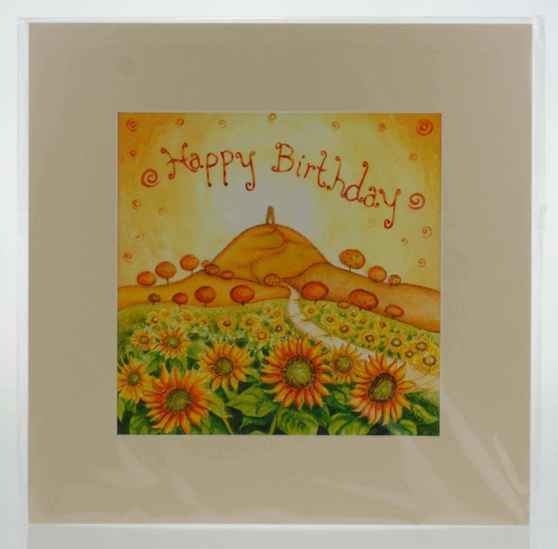 Happy Birthday Mounted Print