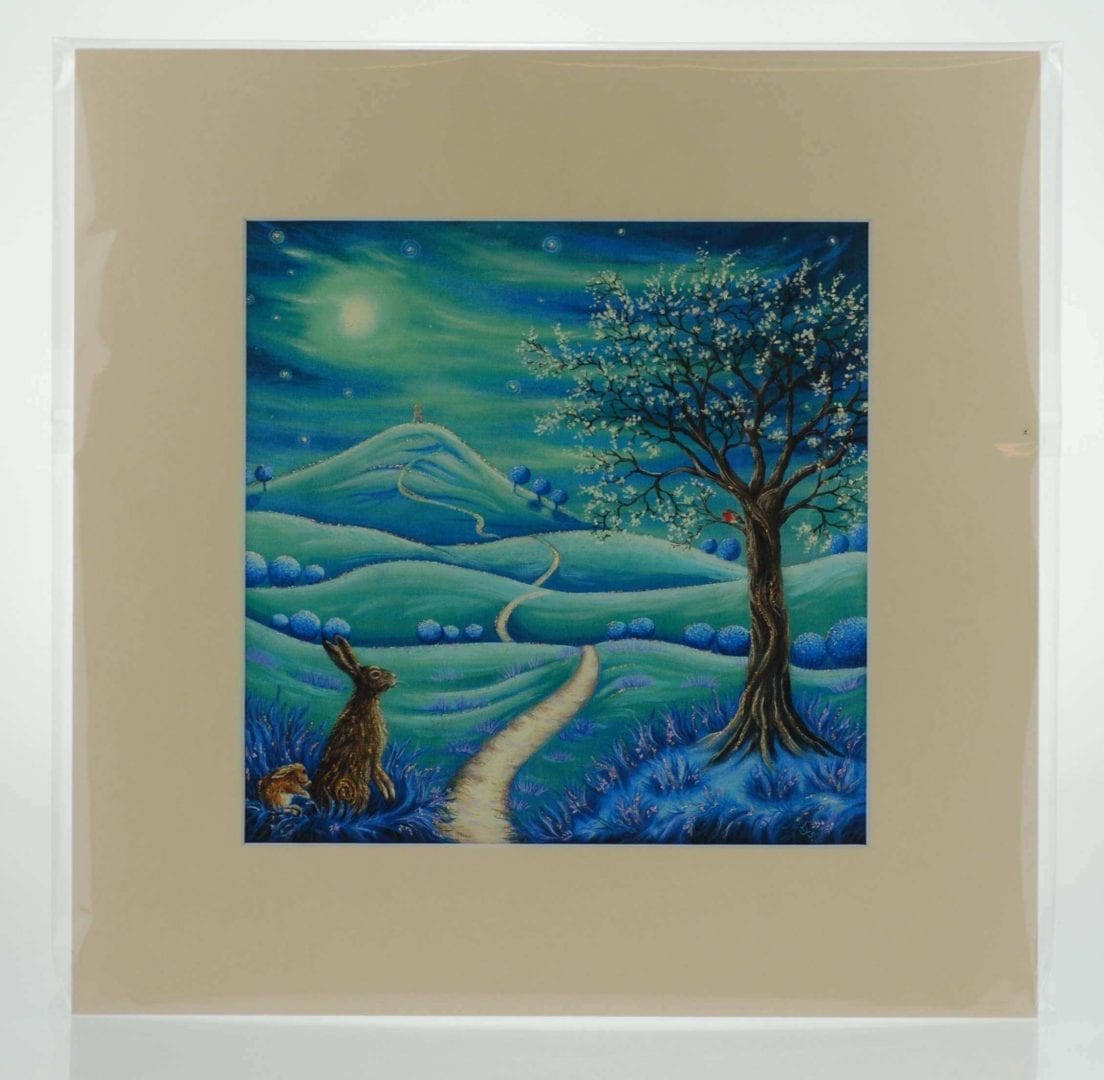 Under the Sacred Tree Mounted Print