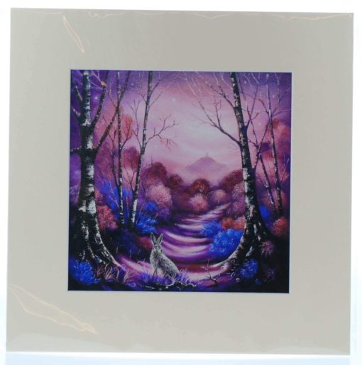 Beyond the Magenta Mists Mounted Print