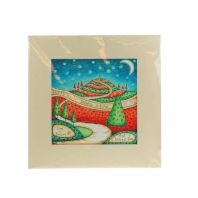 Winter Solstice (Red & Green) Mounted Print