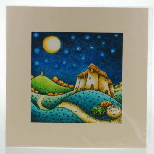 Blue Moon Mounted Print