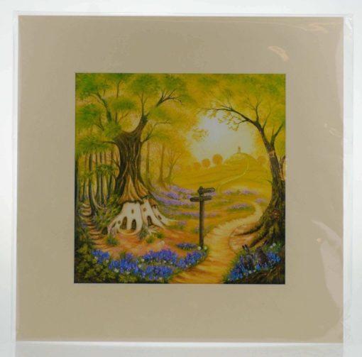 Faery Woods Mounted Print
