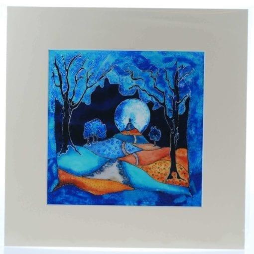 Indigo Moon Mounted Print