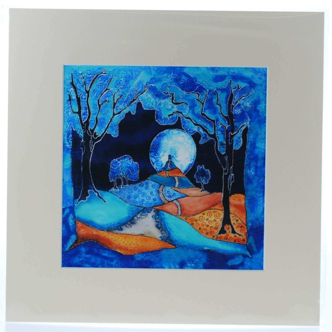 Indigo Moon Mounted Print