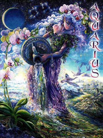 Josephine Wall Aquarius Card