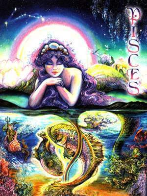 Josephine Wall Pisces Card