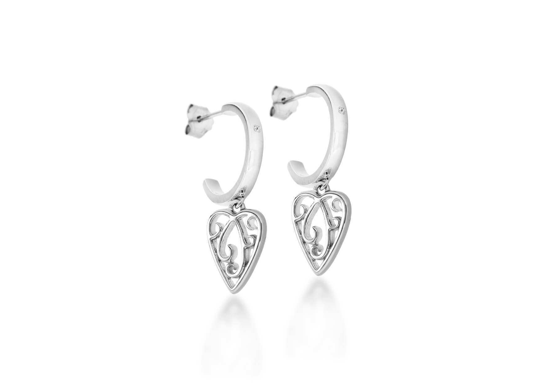 Lily & Lotty Sterling Silver & Diamond Earrings