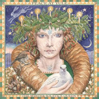 Winter Solstice Queen Card by Wendy Andrew