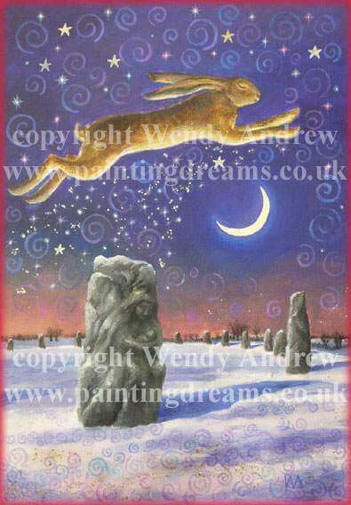 Winter Solstice Magick Card By Wendy Andrew