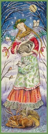Woodland Guardian Maiden Card by Wendy Andrew