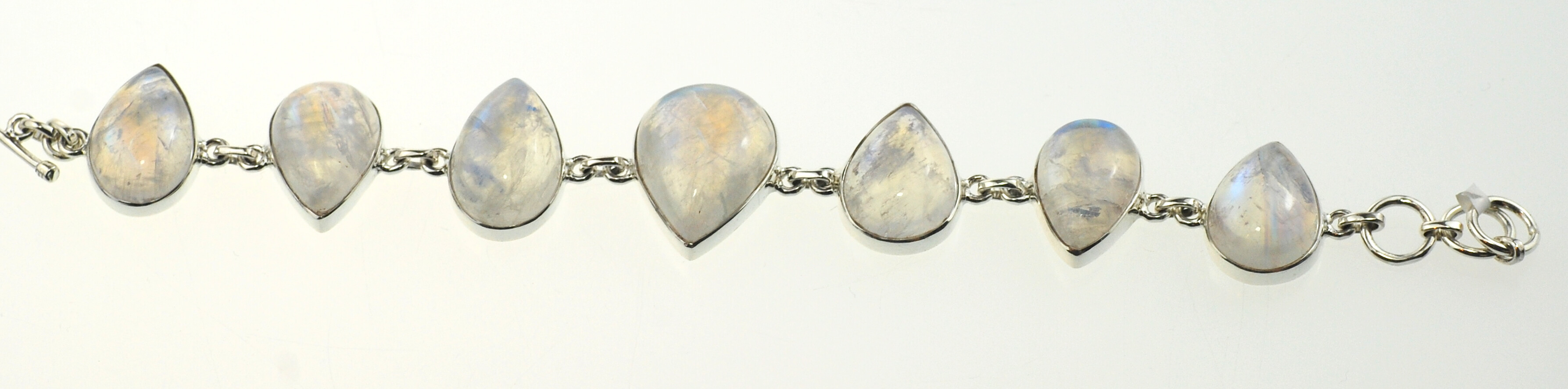 image shows rainbow moonstone bracelet