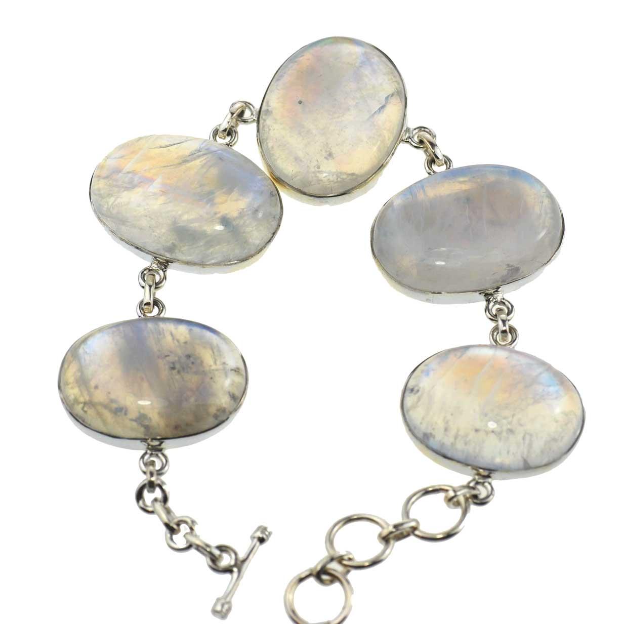 AA Grade Rainbow Moonstone Bracelet