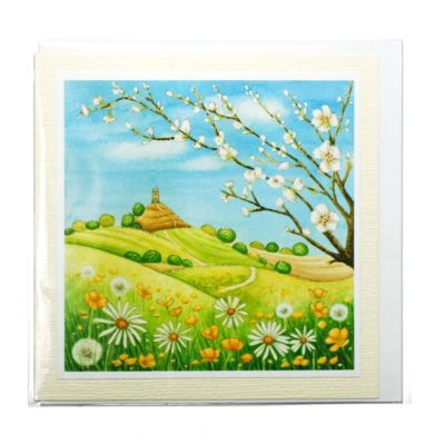 Image shows spring blossom promise card