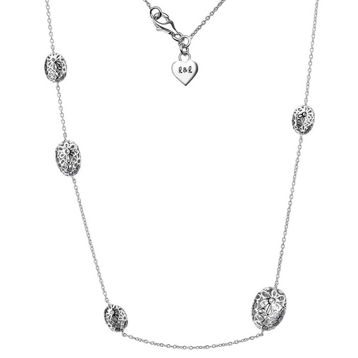 Ellice Silver and Diamond Long Necklace