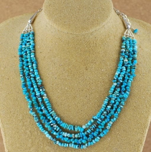 4 Strand Turquoise Navajo Necklace