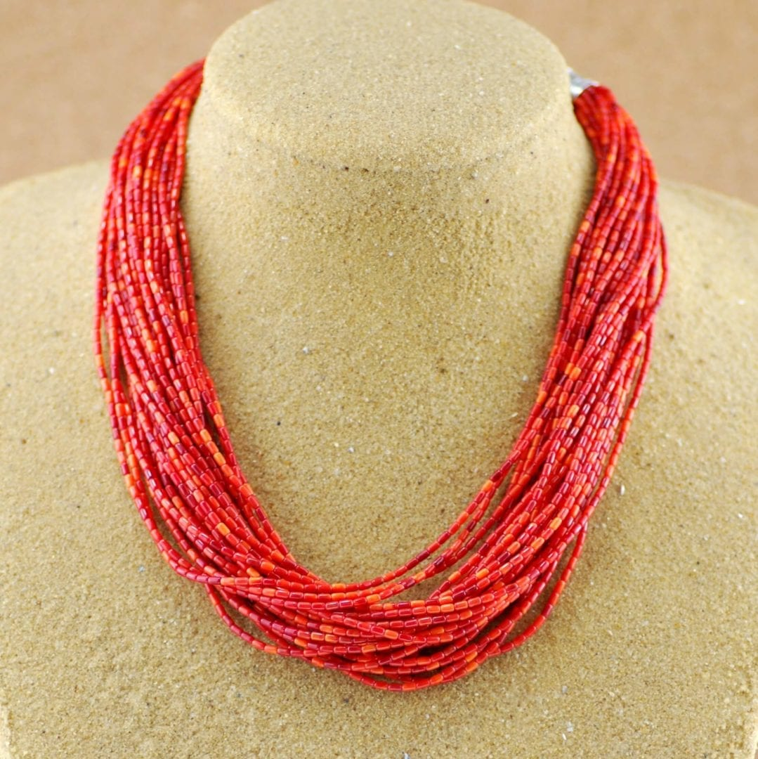 Spiny Oyster 30 Strand Necklace