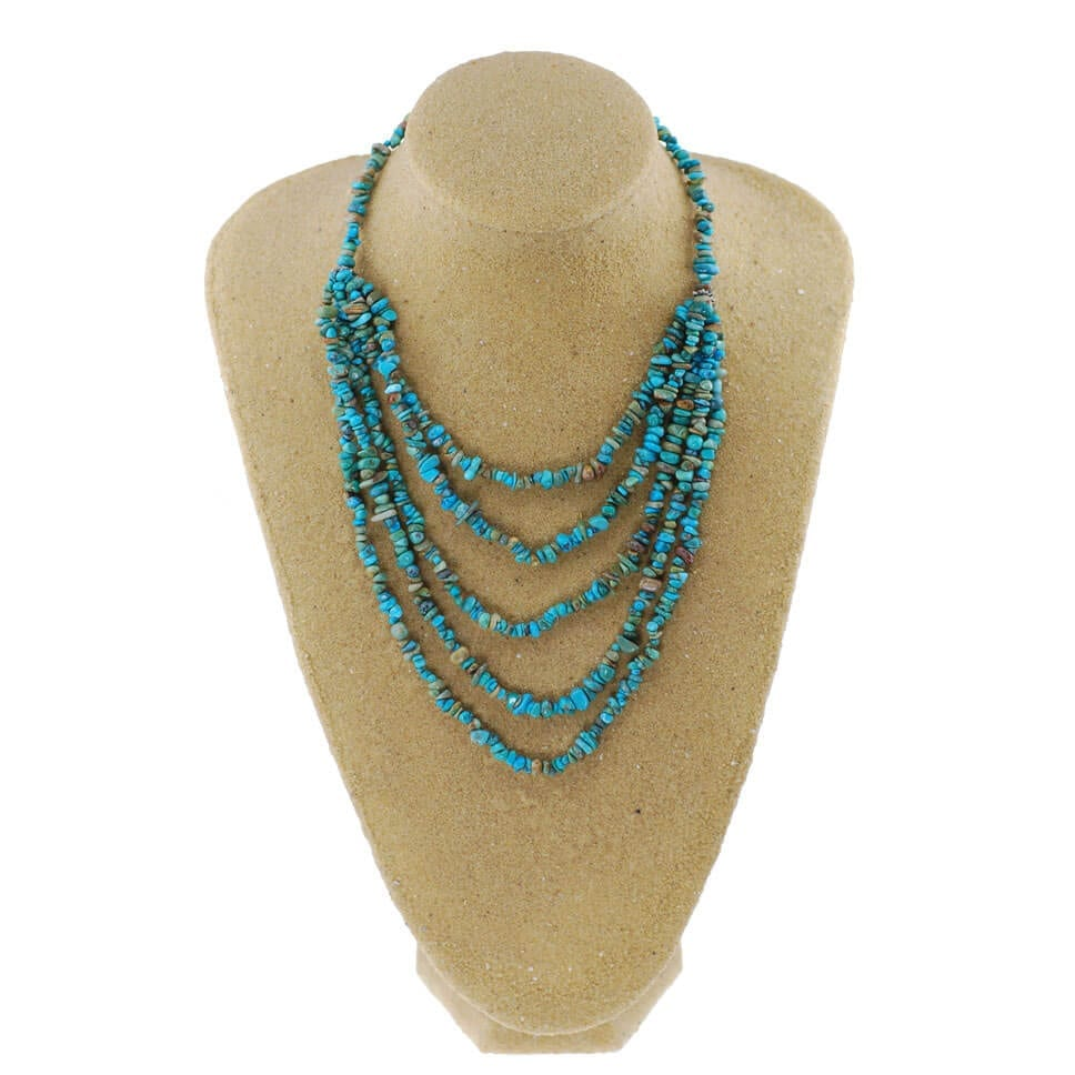 Turquoise 5 String Graduated Necklace